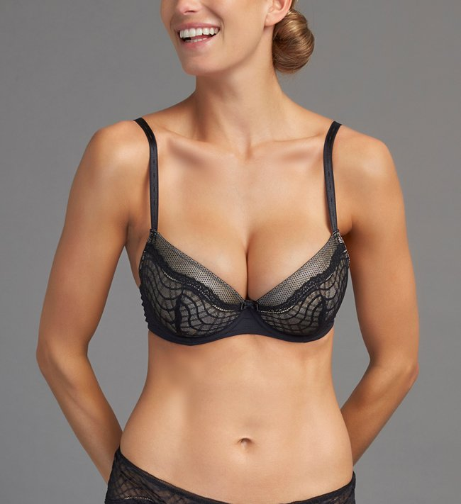 Change Lyra Plunge bra Black With Nude